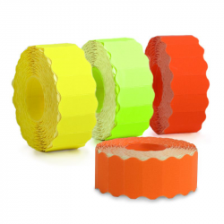 Etiquettes 26x12 mm • Orange fluo
